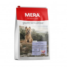 MERA pure sensitive MINI s jehněčím masem a rýží