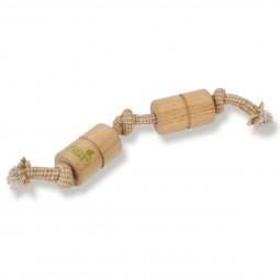Earthy Pawz Holz Hundespielzeug zylindeform