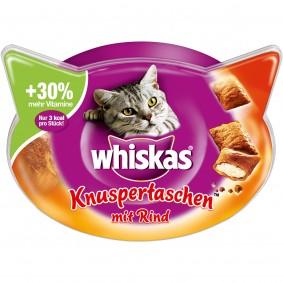Whiskas Katzensnacks Knuspertaschen Rind 60g
