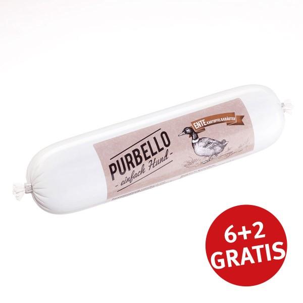 PurBello Hundefutter Ente 400g 6+2 GRATIS
