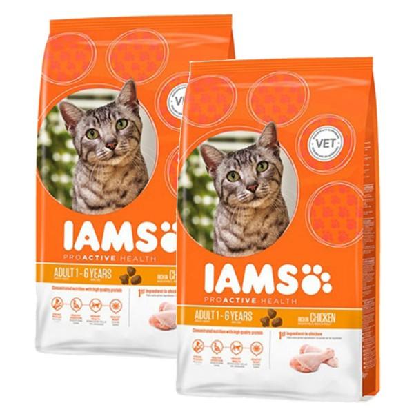 IAMS Katze Adult Huhn 2x10kg