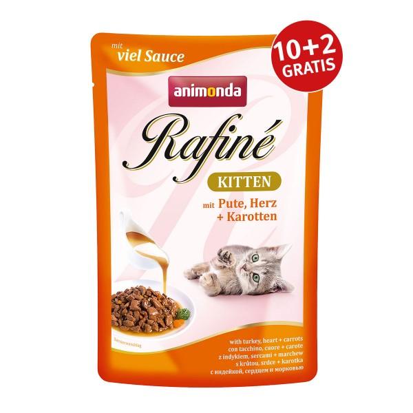 Animonda Rafiné Kitten mit Pute, Herz & Karotten