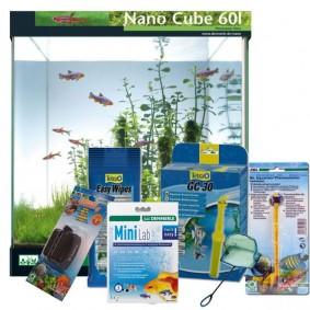 Dennerle NanoCube 60 Liter Aquarium + Zubehör-Set