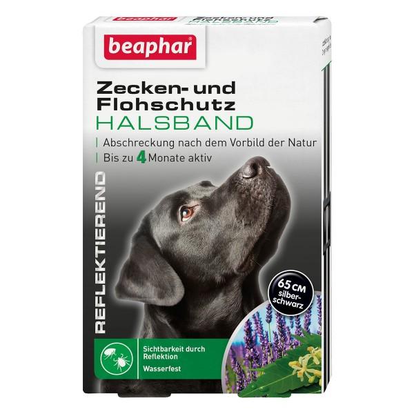beaphar Zecken- und Flohschutz Halsband reflektierend für Hunde 65cm