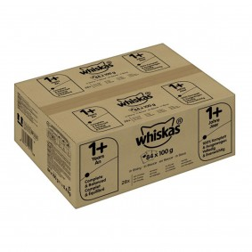 Whiskas Katzenfutter Multipack 1+ Geflügelauswahl in Sauce 84x100g