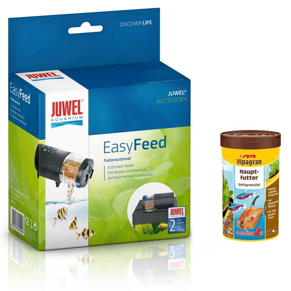 Juwel EasyFeed + Sera vipagran Hauptfutter 250ml