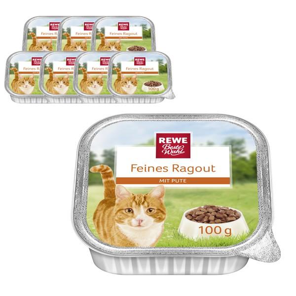 REWE Beste Wahl Katzenfutter Feines Ragout mit Pute