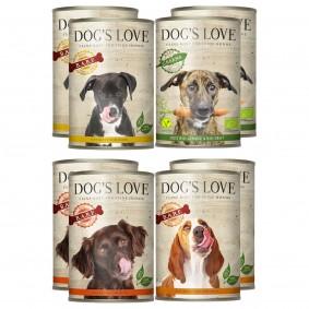 Dog's Love Mix & Match Testpaket zum Sparpreis 8x400g