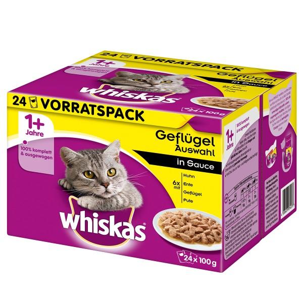 Whiskas Adult 1+ Geflügelauswahl in Sauce 24x100g