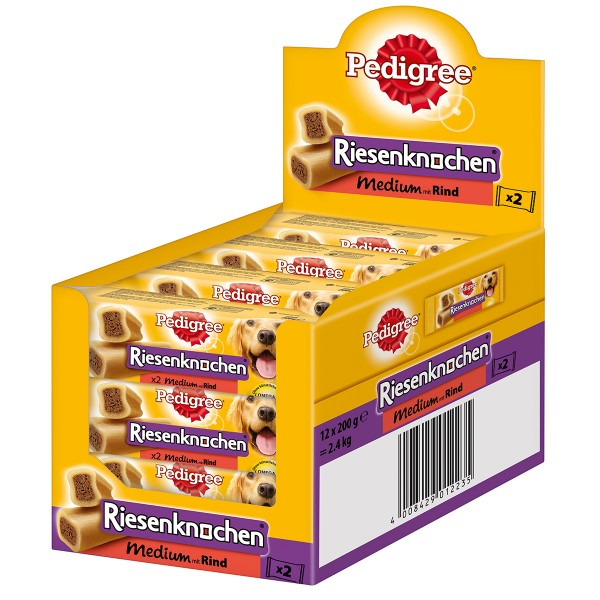 Pedigree Riesenknochen medium mit Rind - 12x2 S...