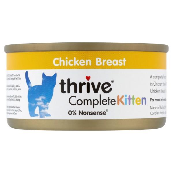 thrive Cat Complete Kitten Huhn 12x75g