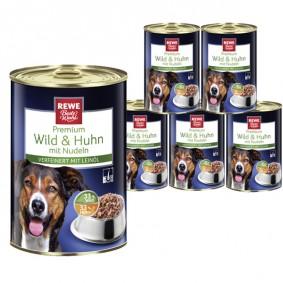 REWE Beste Wahl Hundefutter mit Wild & Huhn mit Nudeln