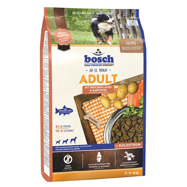 Bosch Hundefutter Adult Lachs & Kartoffel - 3kg