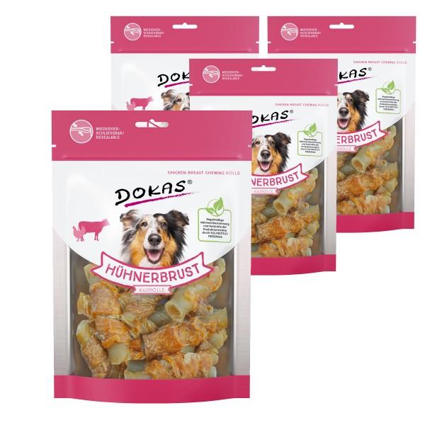 Dokas Hundesnack Hühnerbrust Kaurolle 4x250g
