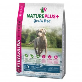 Eukanuba Natureplus+ Grainfree Junior s lososem