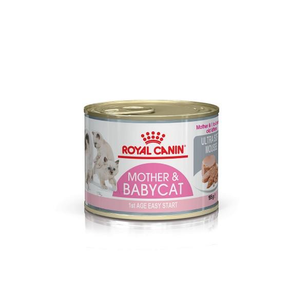 ROYAL CANIN MOTHER & BABYCAT Mousse pro březí kočky a koťata, 195 g
