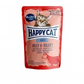 Happy Cat kapsičky – All Meat Adult hovězí maso a srdce