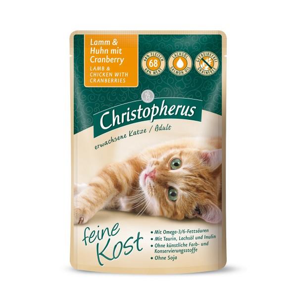 Christopherus Katze Adult Lamm und Huhn mit Cra...