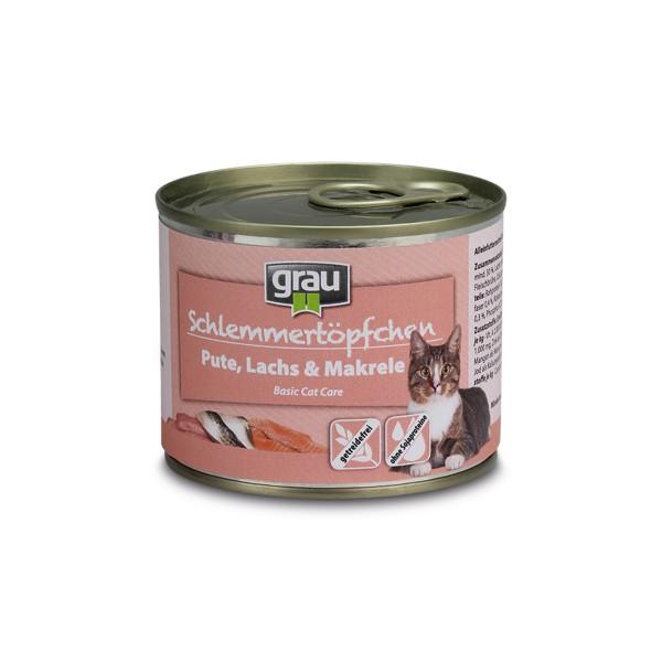 Grau Schlemmertöpfchen Adult Pute, Lachs und Makrele
