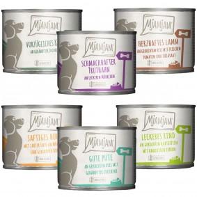 MjAMjAM Mixpaket II mit Huhn&Ente, Rind, Pute, Kalb, Truthahn, Lamm 6x200g