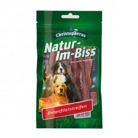 Christopherus Hundesnack Natur-Im-Biss Entenfiletstreifen 70g