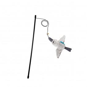 ZooRoyal udice pro kočky s ptákem, barva šedá