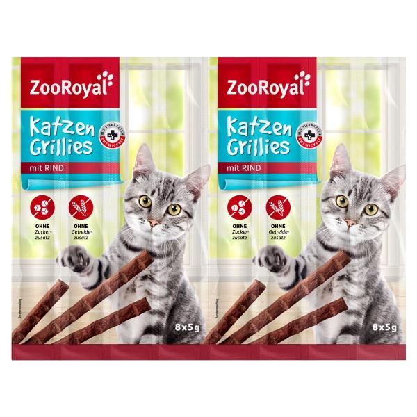 ZooRoyal Katzen-Grillies mit Rind - 8x5g