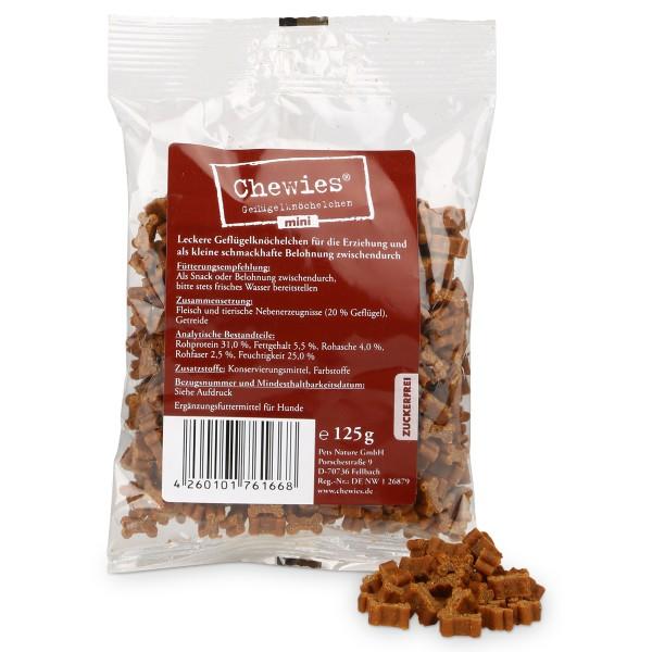 Chewies Hundeleckerli Mini Geflügel 125g