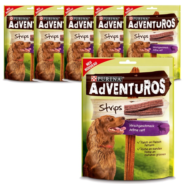 AdVENTuROS Hundesnack Strips 90g 5 plus 1 gratis