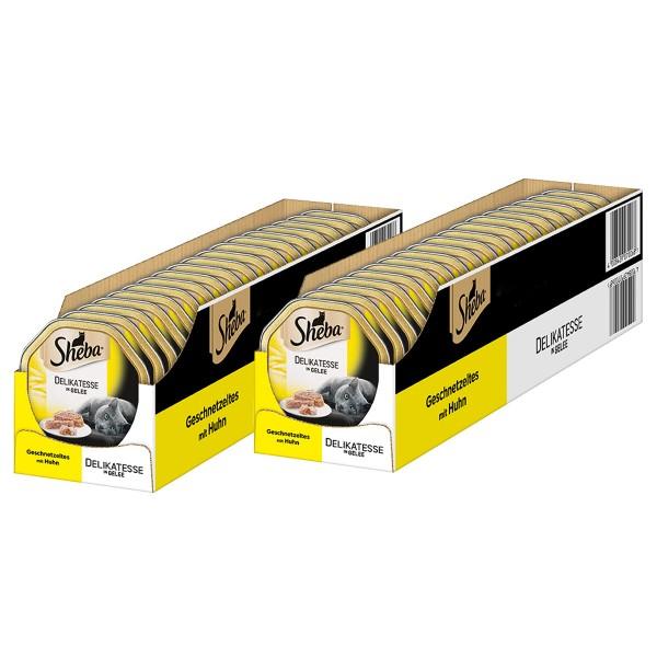 Sheba Katzenfutter Delikatesse in Gelee Huhn 36+8 x85g gratis