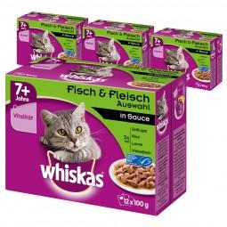 Whiskas Senior 7+ Fisch & Fleischauswahl in Sauce 48x100g