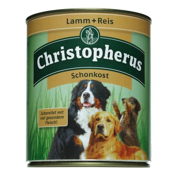Christopherus Hunde-Nassfutter: Schonkost aus Lamm und Reis 6x800g