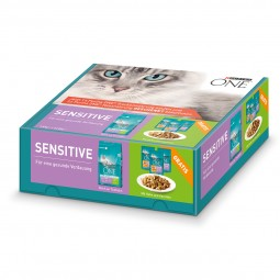 Purina One Bifensis Sensitive Truthahn und Reis 1,5kg + 3x85g Purina One Nassfutter gratis