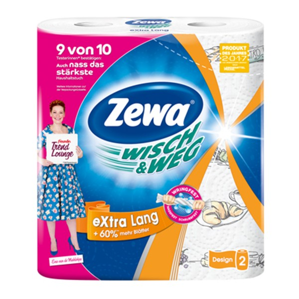 Zewa Wisch&Weg extra Lang 2x72