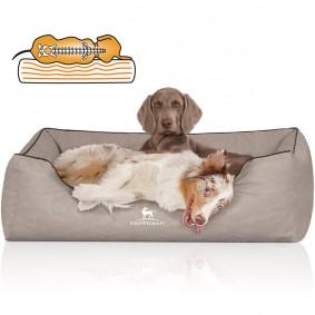 Knuffelwuff orthopädisches Hundebett Rockland hellgrau