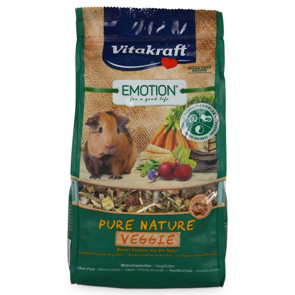 Vitakraft Emotion Pure Nature Veggie Meerschweinchen 600g
