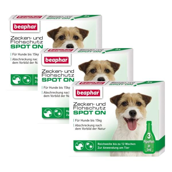 beaphar Spot On Tropfen für kleine Hunde 3er-Pack