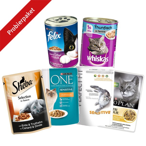 Gemischtes Probierpaket für Katzen