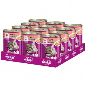 Whiskas Adult 1+ mit Herz in Terrine 12x400g