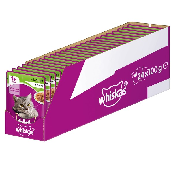 Whiskas Adult 1+ mit Lamm in Gelee