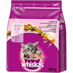 Whiskas Junior mit Lachs 800g