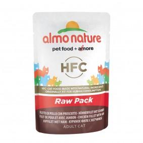 Almo Nature HFC Raw Hühnerfilet und Schinken - 24x55g