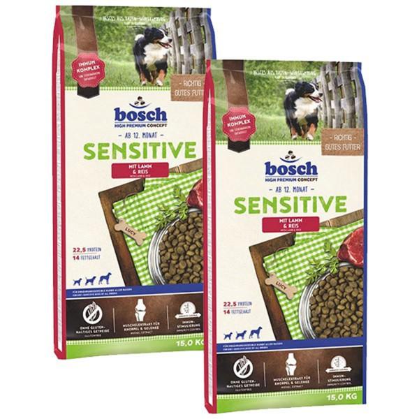 Bosch Hundefutter Sensitive Lamm & Reis - 2x15kg