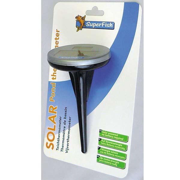 Superfish Schwimm-Thermometer mit Solar für Teiche