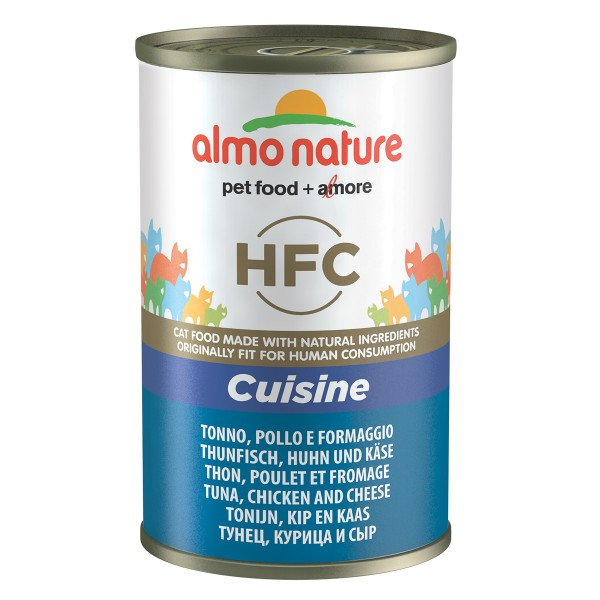 Almo Nature HFC Cuisine Cat Thunfisch, Huhn und Käse