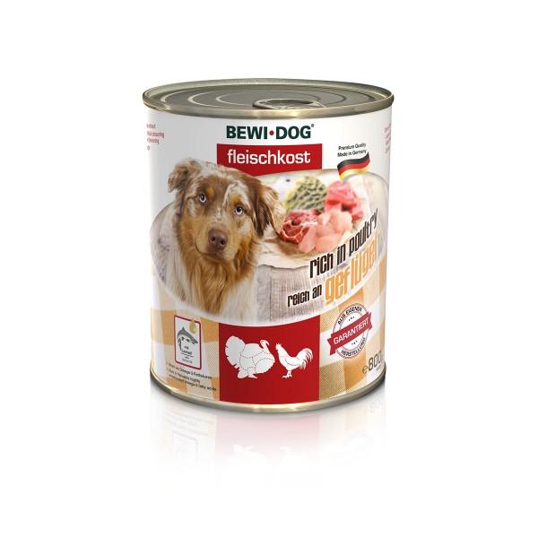 Bewi Dog Hunde-Fleischkost Reich an Geflügel