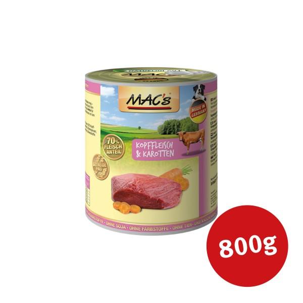 MAC's Dog Hunde-Nassfutter Kopffleisch und Karotten