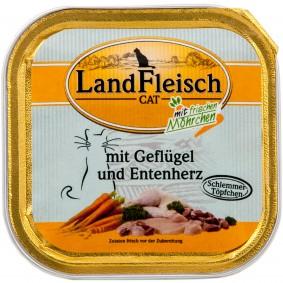 Landfleisch Cat Katzenfutter Schlemmertopf Geflügel & Entenherz