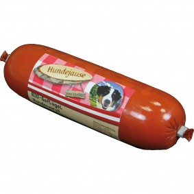 Hundejause Ergänzungsfutter Bio Geflügelwurst 13x300g