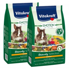 Vitakraft Emotion Beauty Selection Adult Zwergkaninchen 2x600g
